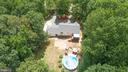 Aerial showing back yard amenities - 120 CASCADE LN, FREDERICKSBURG