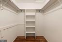 Large master closet - 3224 WILDMERE PL, HERNDON