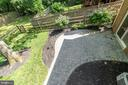 View from deck to lower level terrace - 9815 CAMPBELL DR, KENSINGTON