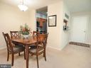 Dining room/area - 10320 LURIA COMMONS CT #3 H, BURKE