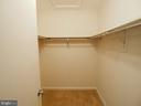 Walk in closet - 10320 LURIA COMMONS CT #3 H, BURKE