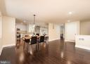 Kitchen table area with view to fireplace - 10968 EIGHT BELLS LN, COLUMBIA