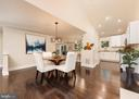 Dining area, view into kitchen - 10968 EIGHT BELLS LN, COLUMBIA