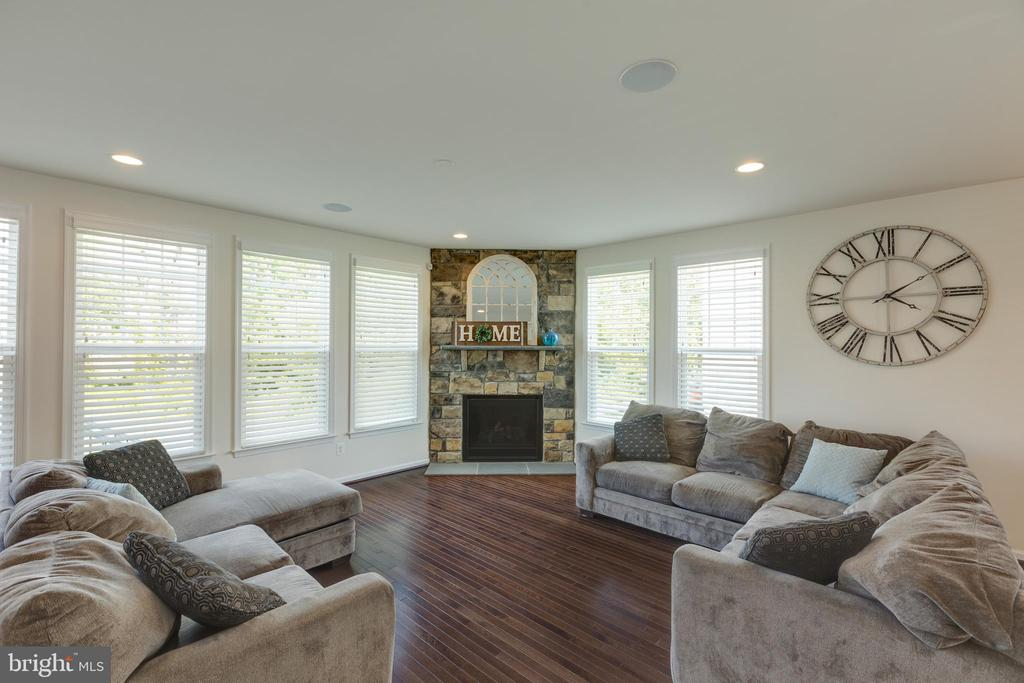 Family room with stone fireplace - 40594 SCULPIN CT, ALDIE