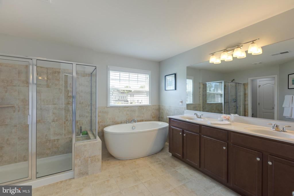 Master bath with dual vanities and soaking tub - 40594 SCULPIN CT, ALDIE