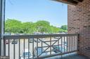 Balcony - 7509 ASHBY LN #H, ALEXANDRIA