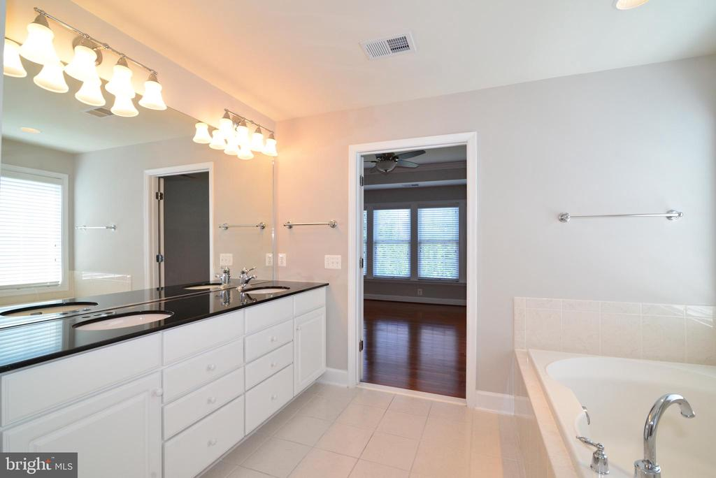 Tons of counter space in your master bath - 42814 RAVENGLASS DR, ASHBURN