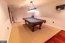 Pool table conveys in large recreational room - 144 PEBBLE BEACH DR, CHARLES TOWN