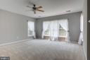 MASTER BEDROOM -LOTS OF NATURAL LIGHT  LIGHT - 42345 ASTORS BEACHWOOD CT, CHANTILLY