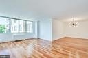 Living and Dining flooded with light - 2939 VAN NESS ST NW #1017, WASHINGTON