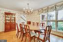 Enjoy dining and nature with these large windows. - 4103 FAITH CT, ALEXANDRIA