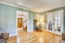 Parlor with french doors to living room. - 4103 FAITH CT, ALEXANDRIA