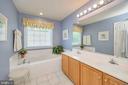 Luxury master bath with soaking tub - 106 CONFEDERATE CIR, LOCUST GROVE