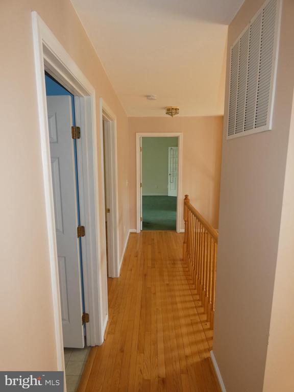 Hallway view from smaller bedrooms toward master - 43114 LLEWELLYN CT, LEESBURG
