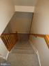 Basement stairway view from first landing - 43114 LLEWELLYN CT, LEESBURG