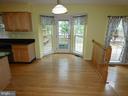 Breakfast area view from entry hallway - 43114 LLEWELLYN CT, LEESBURG