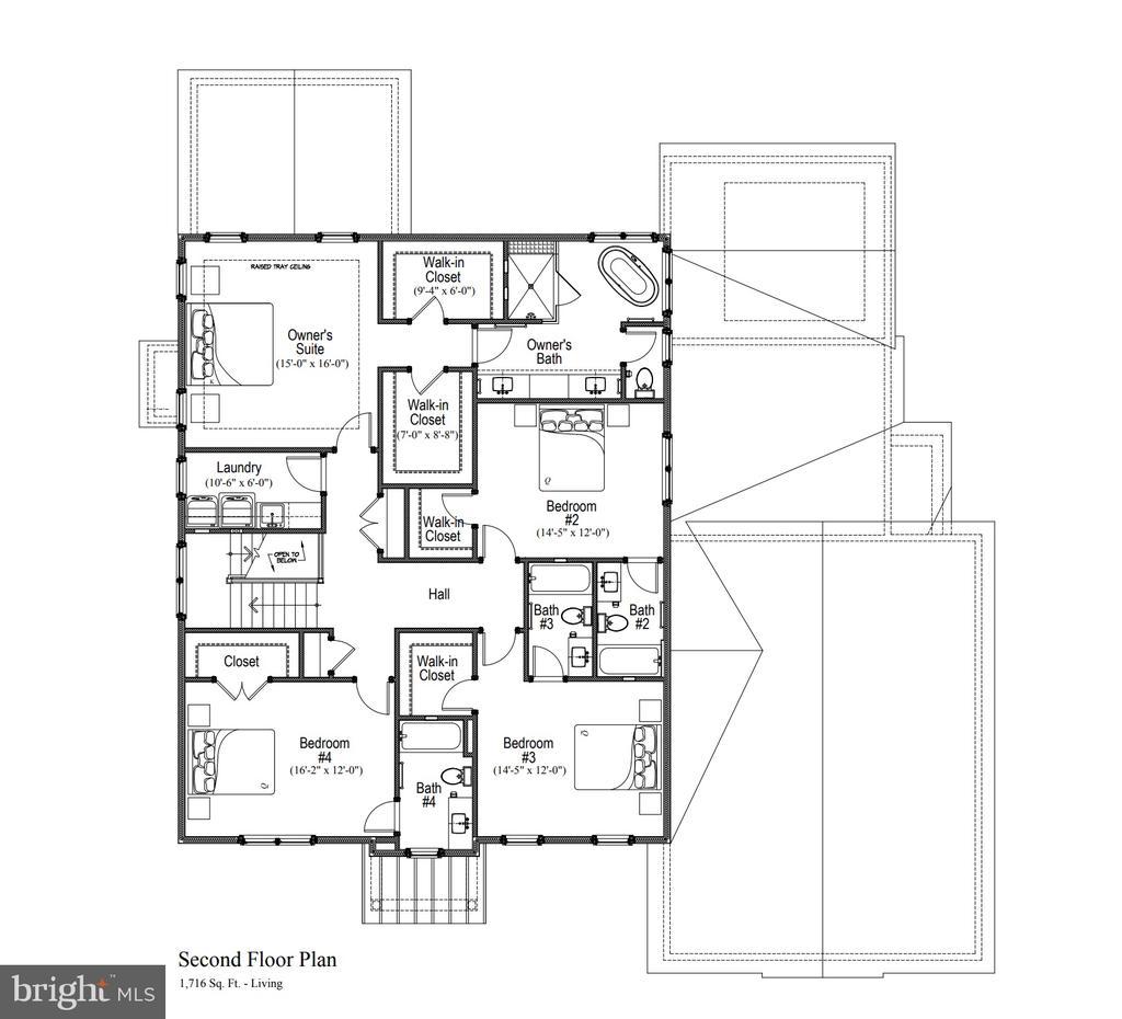 Upper level floor plan - 11204 WESTMONT DR, SPOTSYLVANIA