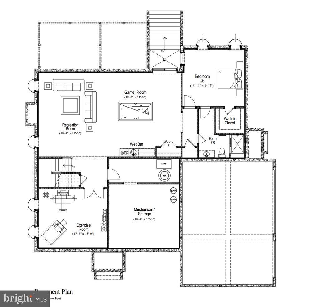 Lower level floor plan - 11204 WESTMONT DR, SPOTSYLVANIA