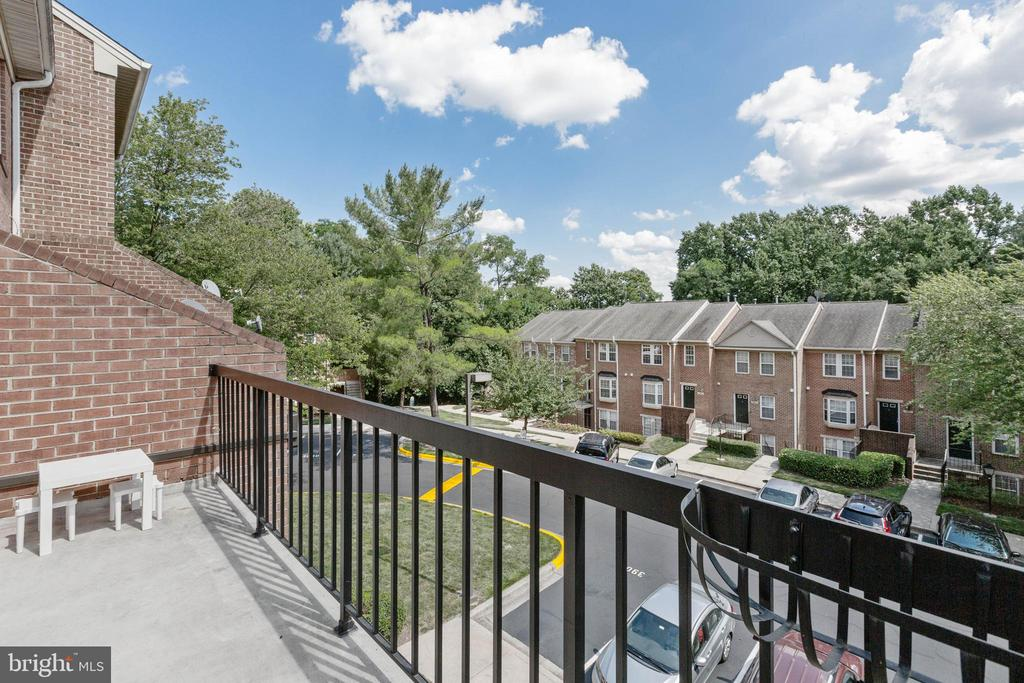 Balcony off of living room - 4023 CHESTERWOOD DR, SILVER SPRING