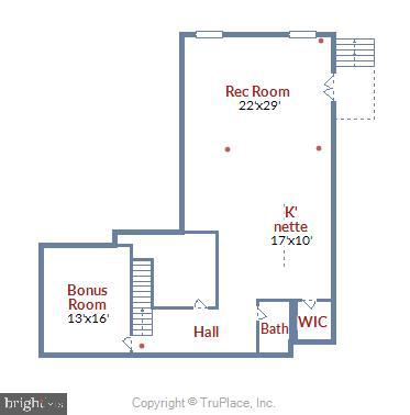 Lower Level Floorplan and dimensions - 22602 PINKHORN WAY, ASHBURN