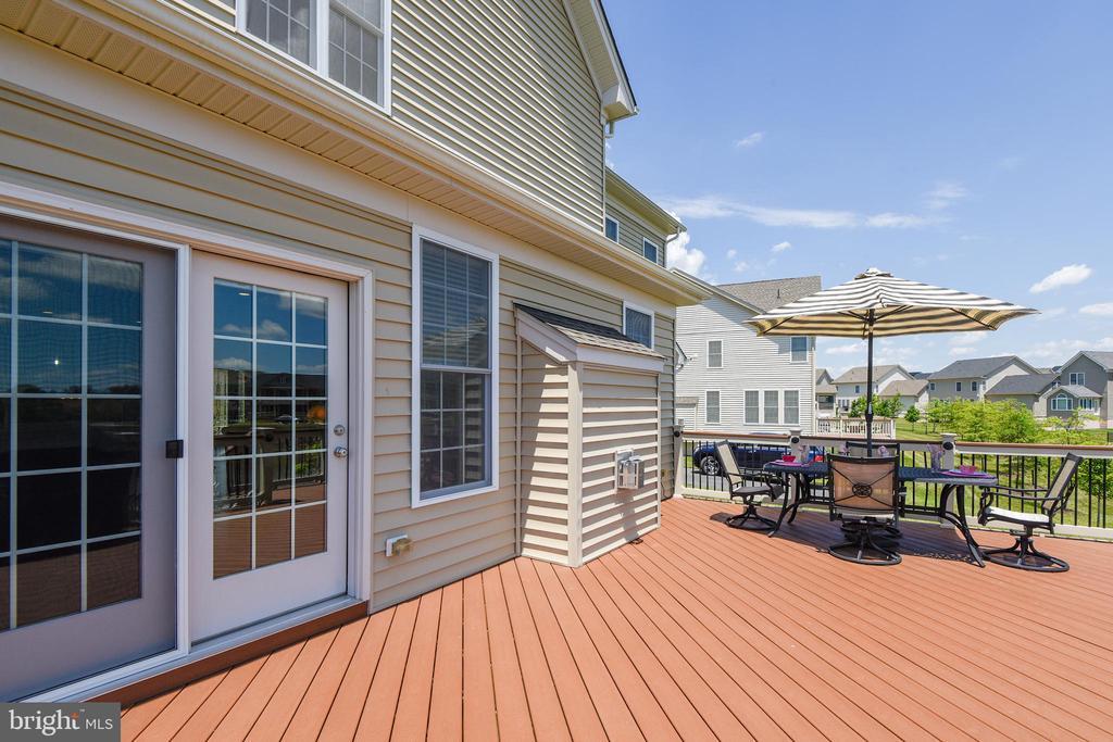 Trex deck with lighting - 22602 PINKHORN WAY, ASHBURN