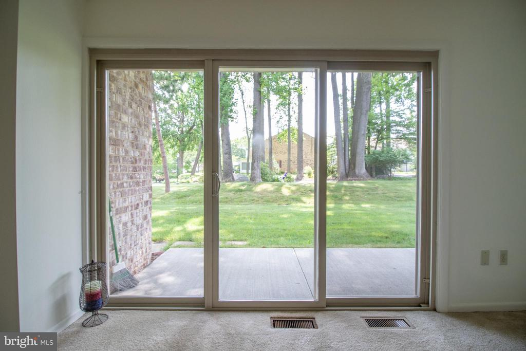 Sliding doors from the living room - 3618 GLENEAGLES DR #7-1G, SILVER SPRING