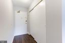 Coat closet in the foyer area - 1300 ARMY NAVY DR #225, ARLINGTON