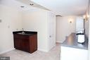 Basement Rec Room/In-law Suite w/wet bar - 11116 HENDERSON RD, FAIRFAX STATION