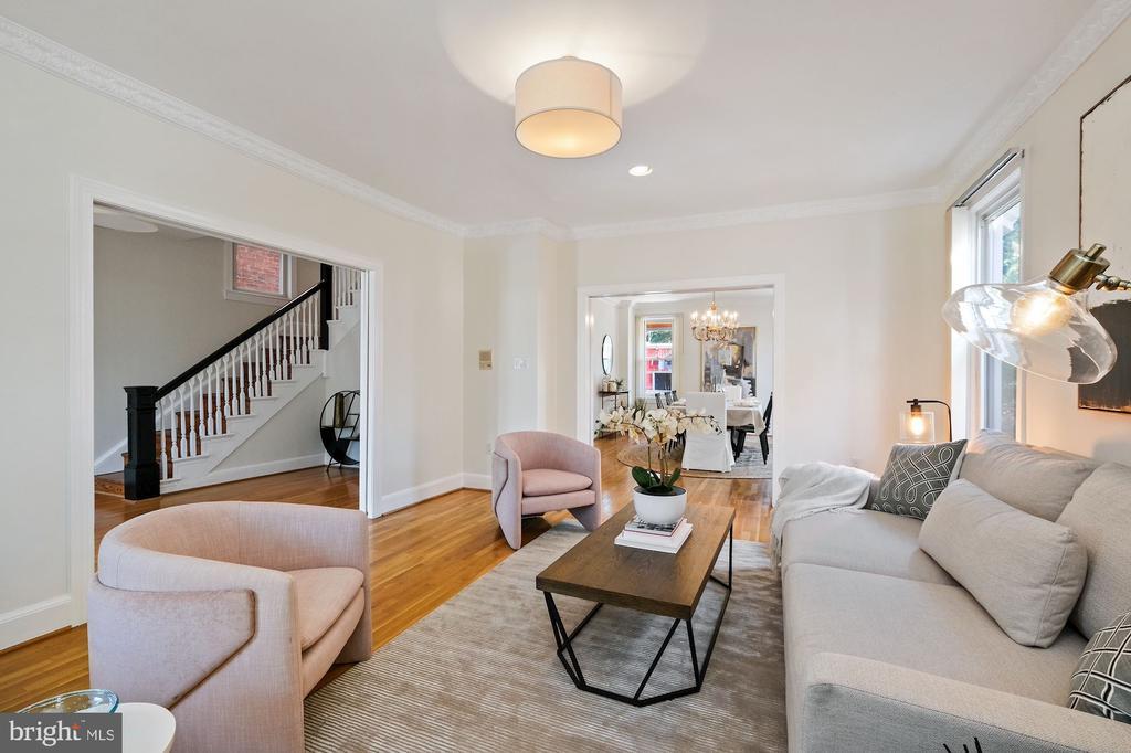 Living Room - 1407 WEBSTER ST NW, WASHINGTON