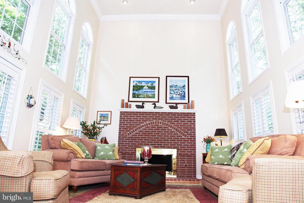 Main Level Family Room/Gas Fireplace - 11116 HENDERSON RD, FAIRFAX STATION