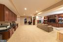 Basement- Built in media center - 43570 FREEPORT PL, STERLING