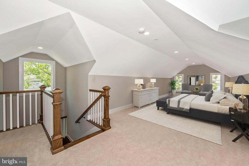 VIRTUALLY STAGED - 5TH BEDROOM /  UPPER LEVEL - 5606 FOREST PL, BETHESDA