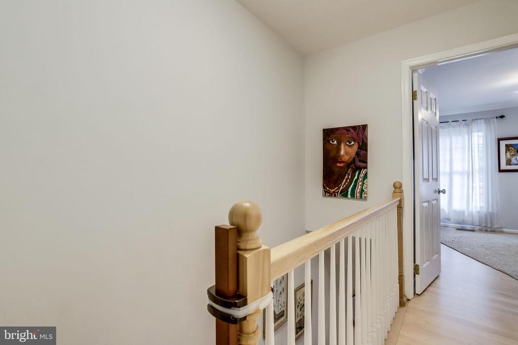 Upstairs New railings to match wood floors - 2536 S WALTER REED DR #D, ARLINGTON