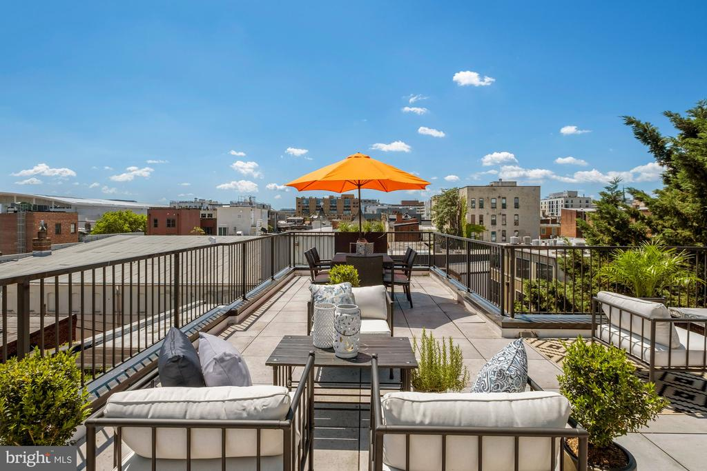 Expansive roof terrace seating area - 928 O ST NW #3, WASHINGTON