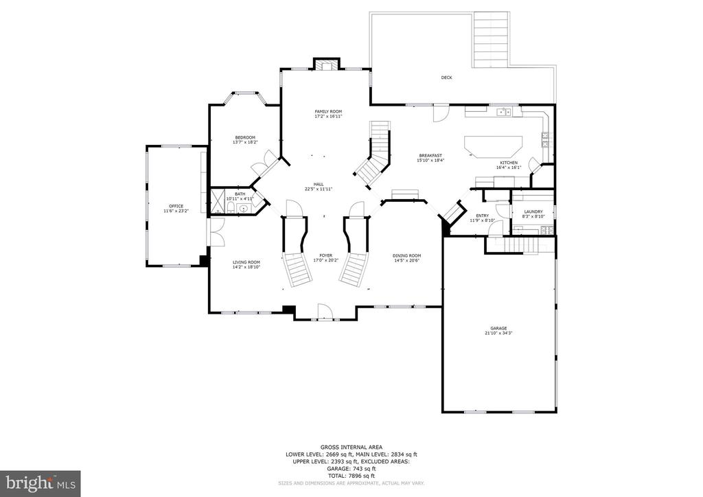 Main Level Floor Plan - 11227 INDEPENDENCE WAY, ELLICOTT CITY
