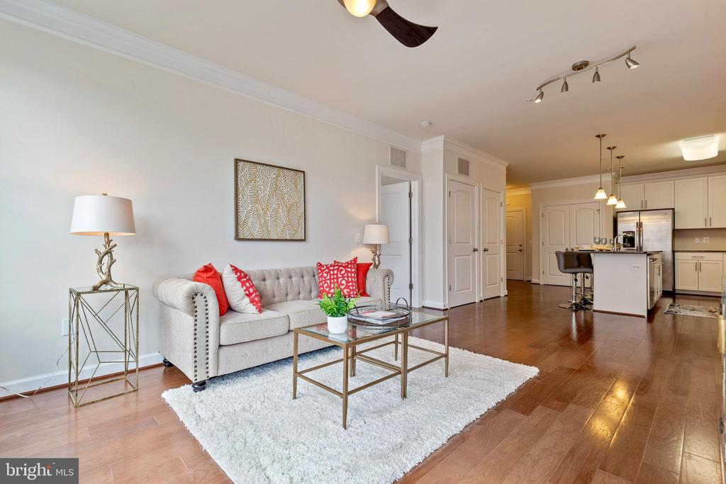 Very bright living room - 13740 ENDEAVOUR DR #307, HERNDON