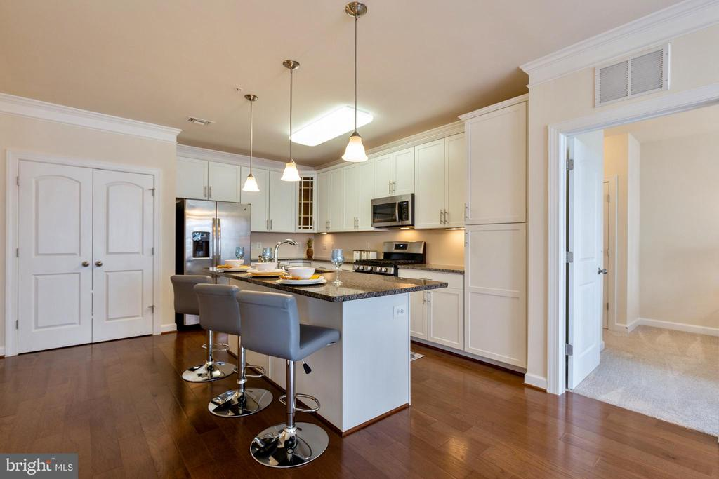 Beautifully upgraded cabinets and countertops - 13740 ENDEAVOUR DR #307, HERNDON