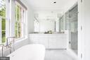 Master Bath with Waterworks Fixtures - 2302 KALORAMA RD NW, WASHINGTON