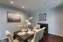 Separate dining room with fireplace! - 3408 GREENTREE DR, FALLS CHURCH