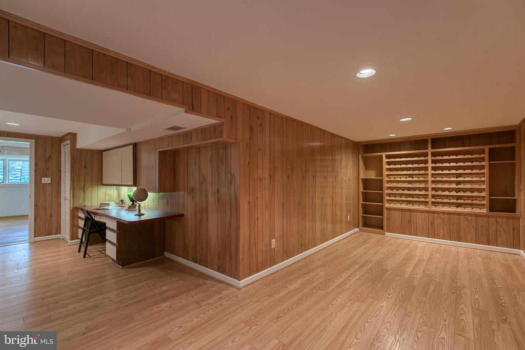 Laundry/bonus room with wine storage & built-ins - 3408 GREENTREE DR, FALLS CHURCH