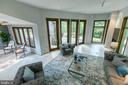 Expansive family room addition opens to deck - 3408 GREENTREE DR, FALLS CHURCH