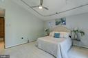 Master suite with vaulted ceilings - 3408 GREENTREE DR, FALLS CHURCH