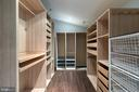 Custom  walk in closet in master bedroom - 3408 GREENTREE DR, FALLS CHURCH