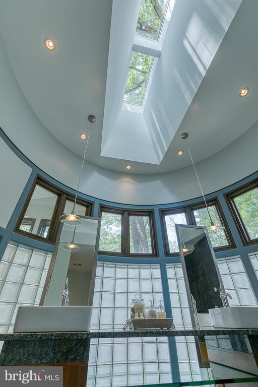 Skylights in master bath - 3408 GREENTREE DR, FALLS CHURCH