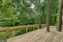 Expansive deck and private backyard - 3408 GREENTREE DR, FALLS CHURCH