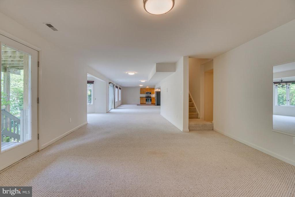 Finished basement w/access to decks and trail - 320 IRONSIDE CV, STAFFORD