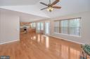 View from family room into kitchen/newer hardwood - 6 BRANTFORD DR, STAFFORD