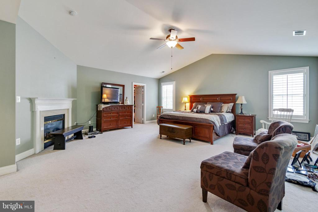 Master Bedroom with Gas Fireplace - 3717 STONEWALL MANOR DR, TRIANGLE