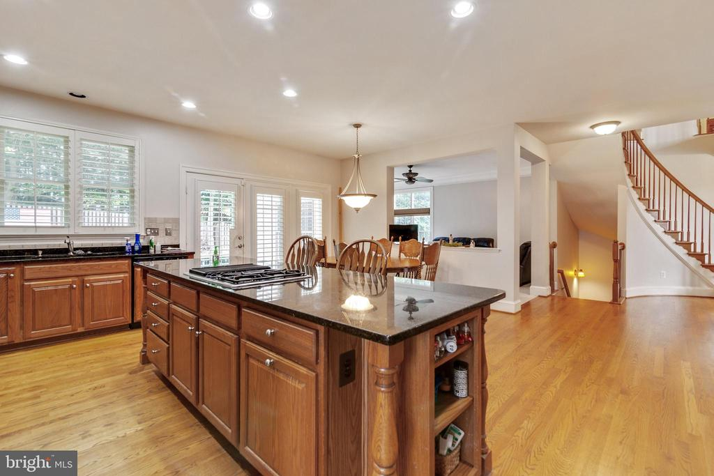 Kitchen with Large Island - 3717 STONEWALL MANOR DR, TRIANGLE
