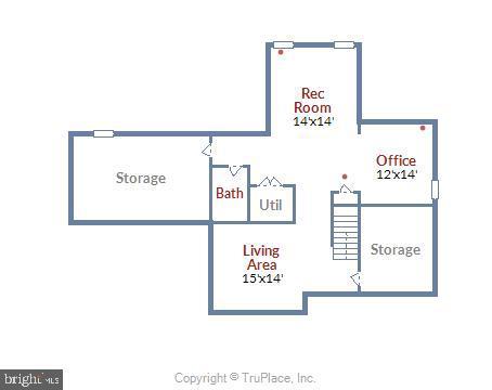 Lower level floor plan - 20810 AMBERVIEW CT, ASHBURN